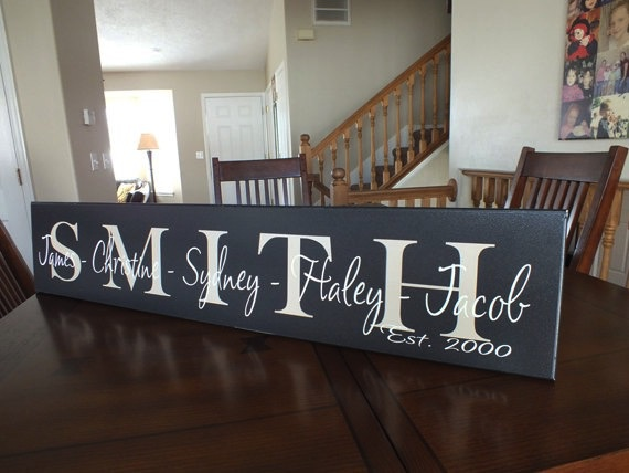 Sign Personalized Family Name Sign - 7 x 36