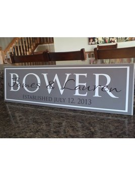 Sign Personalized Family Name Sign - 7 X 24