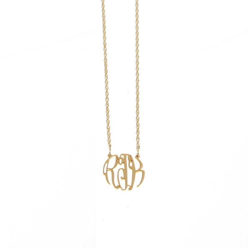 Necklace Elizabeth Filigree Gold Monogram Necklace - Small