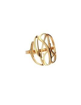 Ring Elizabeth Filigree Gold Monogram Ring
