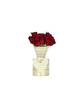 Vase Gold Stripe Happy Everything Mini Vase