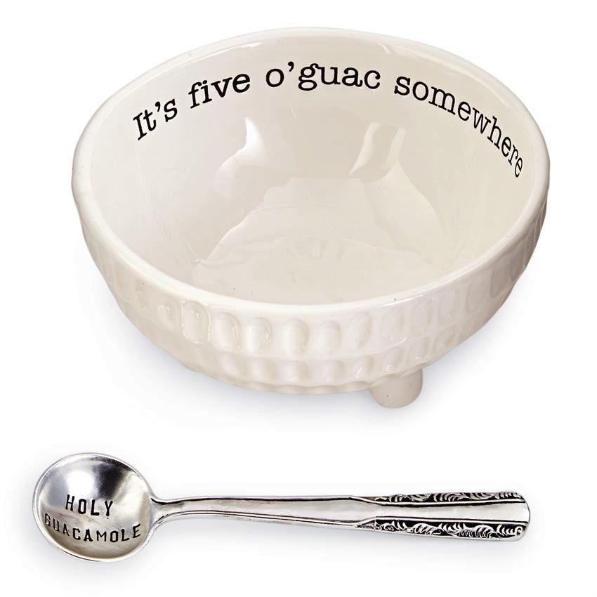 Bowl Guacamole Dip Cup Set