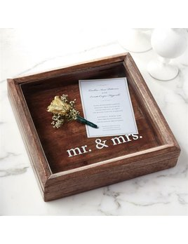 Frame Mr. & Mrs. Keepsake Shadow Box