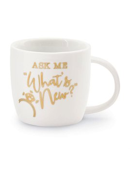 Mug Wedding 12oz Gold Mug - Ask Me What's New