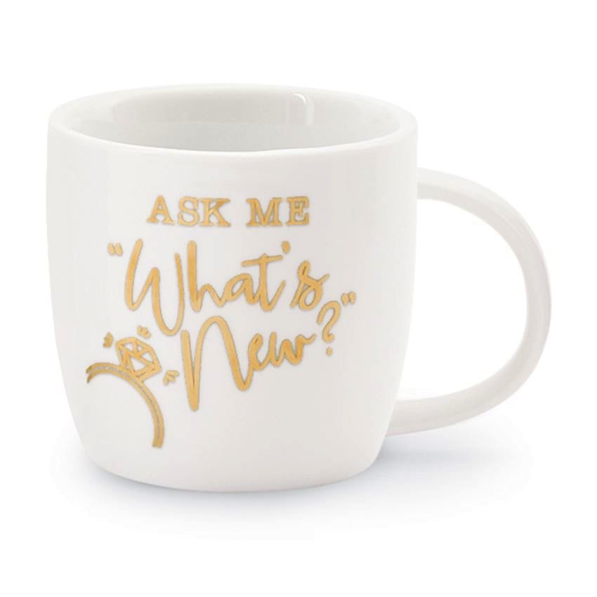 Mug Wedding 12oz Gold Mug - Ask Me What's New