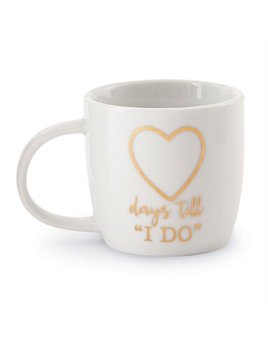 "Mug Wedding 12oz Gold Mug - Days Till ""I Do"""