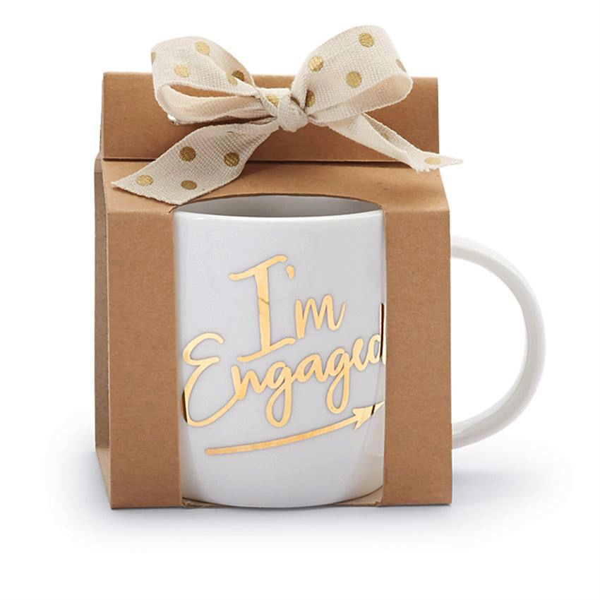 Mug Wedding 12oz Gold Mug - I'm Engaged