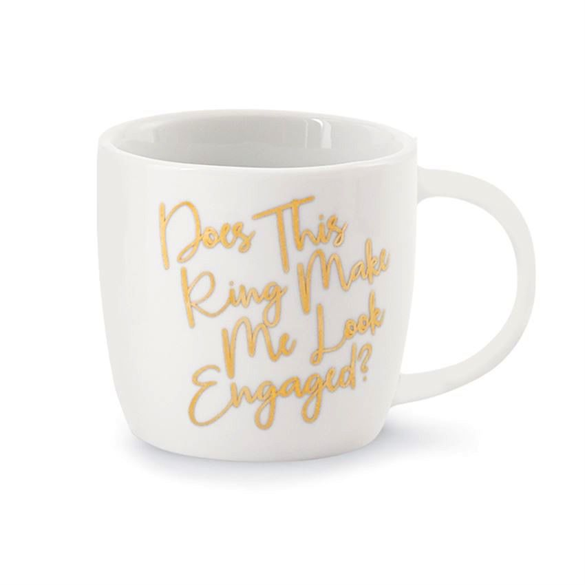 Mug Wedding 12oz Gold Mug - Make Me Look