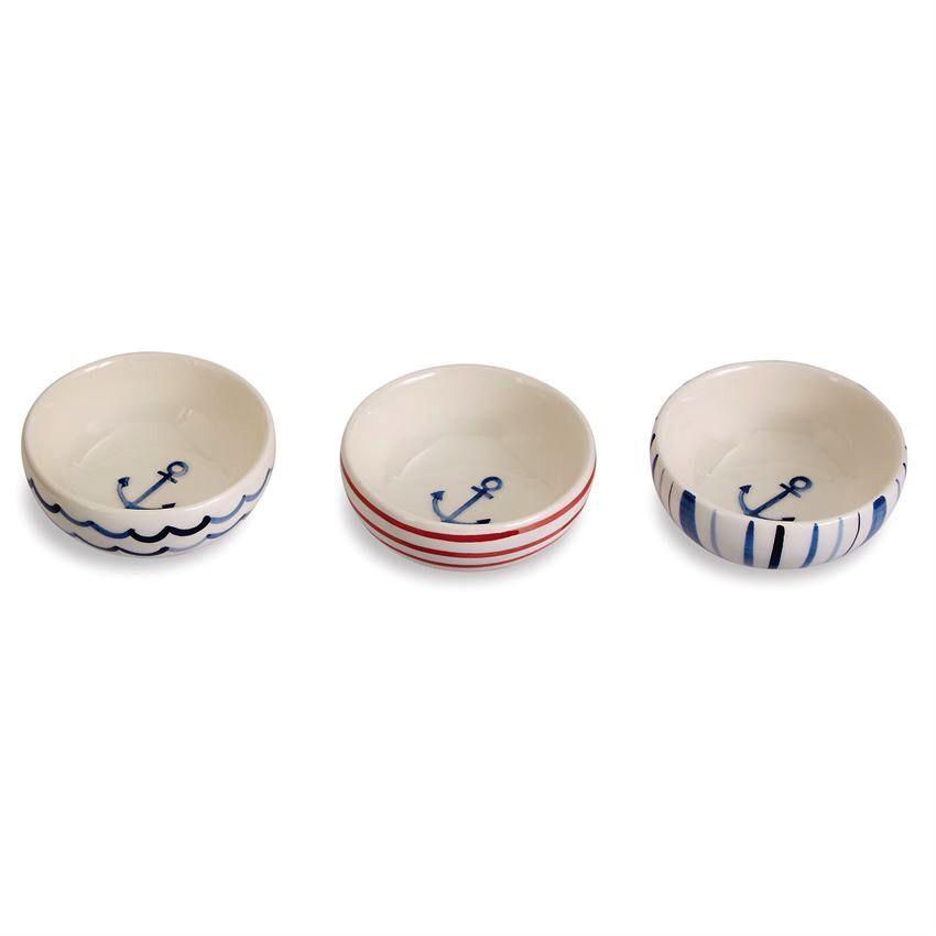 Bowl Watercolor Anchor Dip Bowl Set of 3