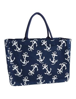 Tote Daytripper Tote - Navy and White Anchor