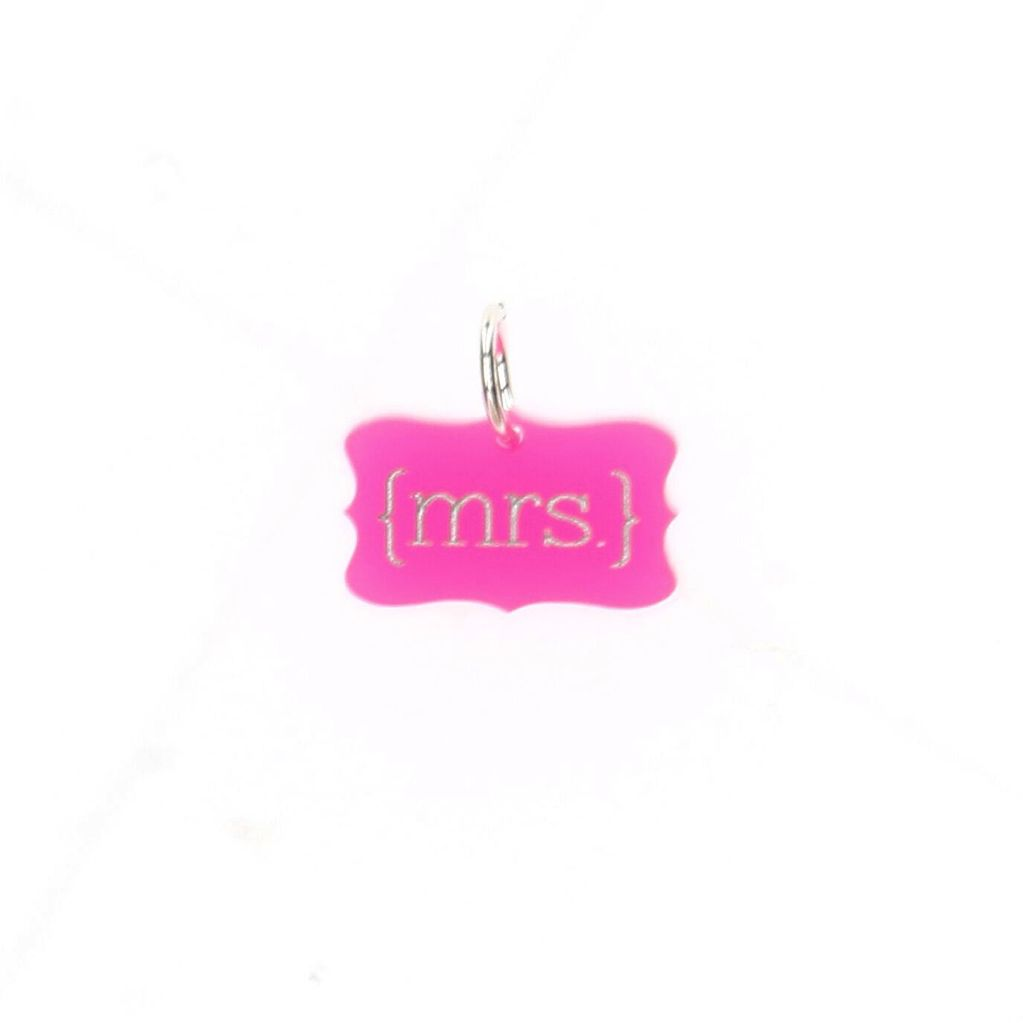 Cutout Acrylic Charm with Silver Finish