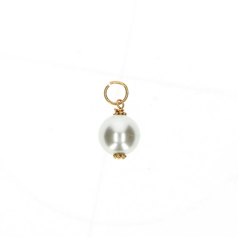Gold Pearl Charm