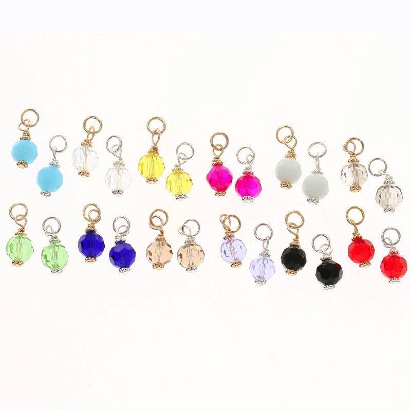 Charm Silver Mini Crystal Charm