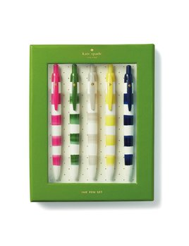 Kate Spade New York Pen Set - Rugby Stripe