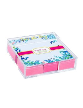 Notepad Lilly Pulitzer Acrylic Holder and Loose Notes - Wade and Sea