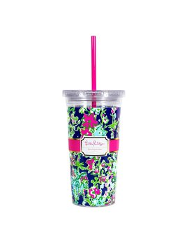 Tumbler Lilly Pulitzer Reusable Cold Drink Tumbler - Southern Charm