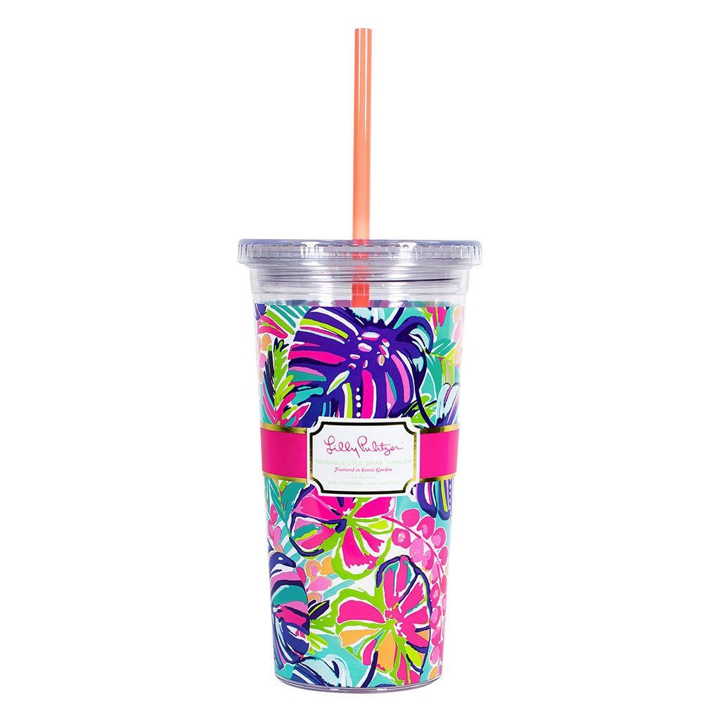Tumbler Lilly Pulitzer Reusable Cold Drink Tumbler - Exotic Charm