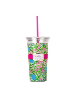 Tumbler Lilly Pulitzer Reusable Cold Drink Tumbler - In the Bungalows