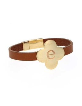 Bracelet Clover Leather Bracelet