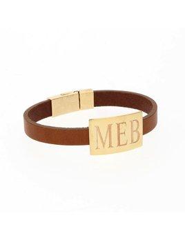 Bracelet Rectange Leather Bracelet