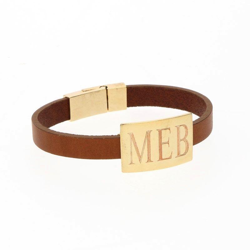 Bracelet Rectangle Leather Bracelet