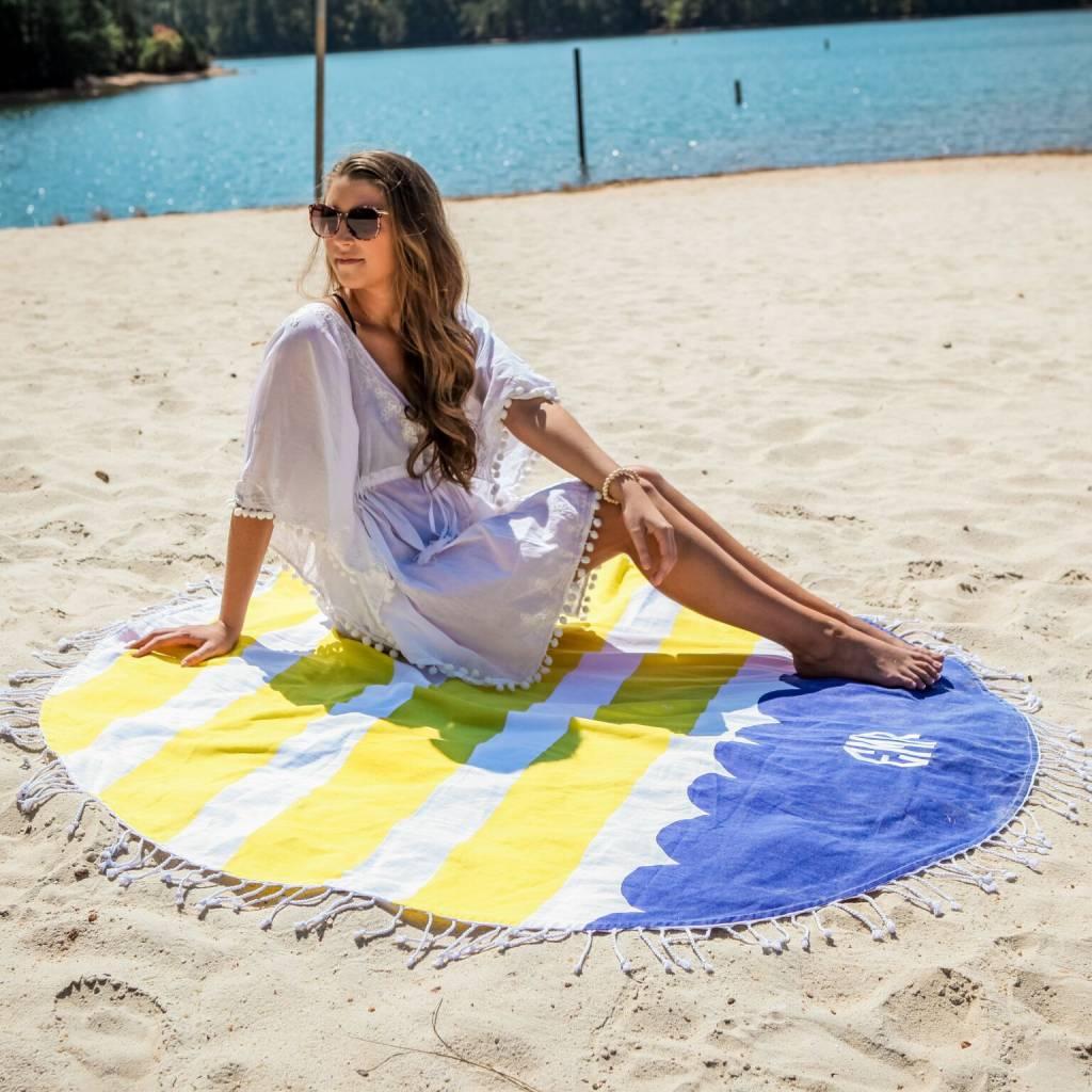 Monogrammed Round Beach Towel