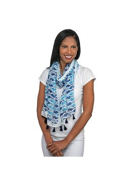 Scarf Blue Seahorses Oblong Scarf