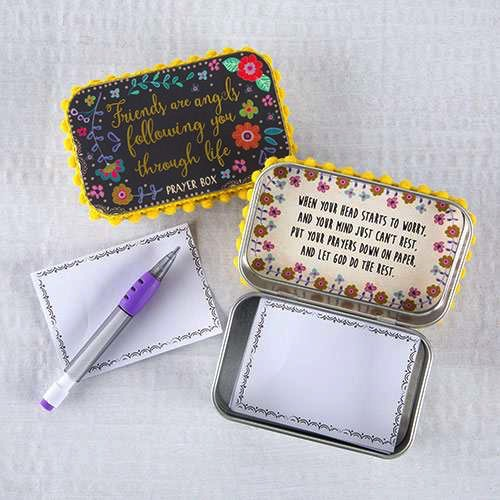 Friends are Angels Prayer Box by Natural Life
