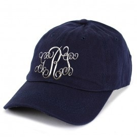 Monogrammed Baseball Cap - Navy