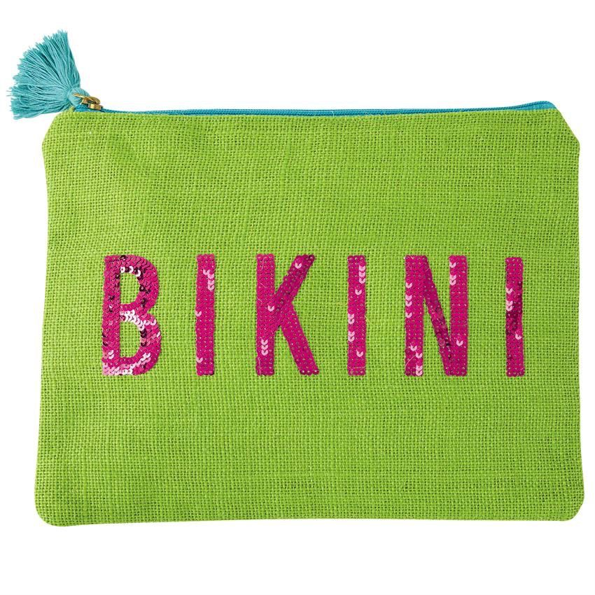 Bikini Dazzle Jute Case - Green Bikini