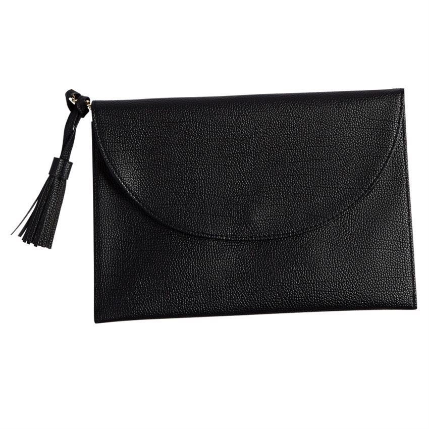 Bailey Tassel Crossbody- Black