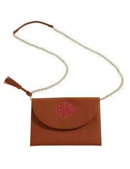 Bailey Tassel Crossbody- Brown