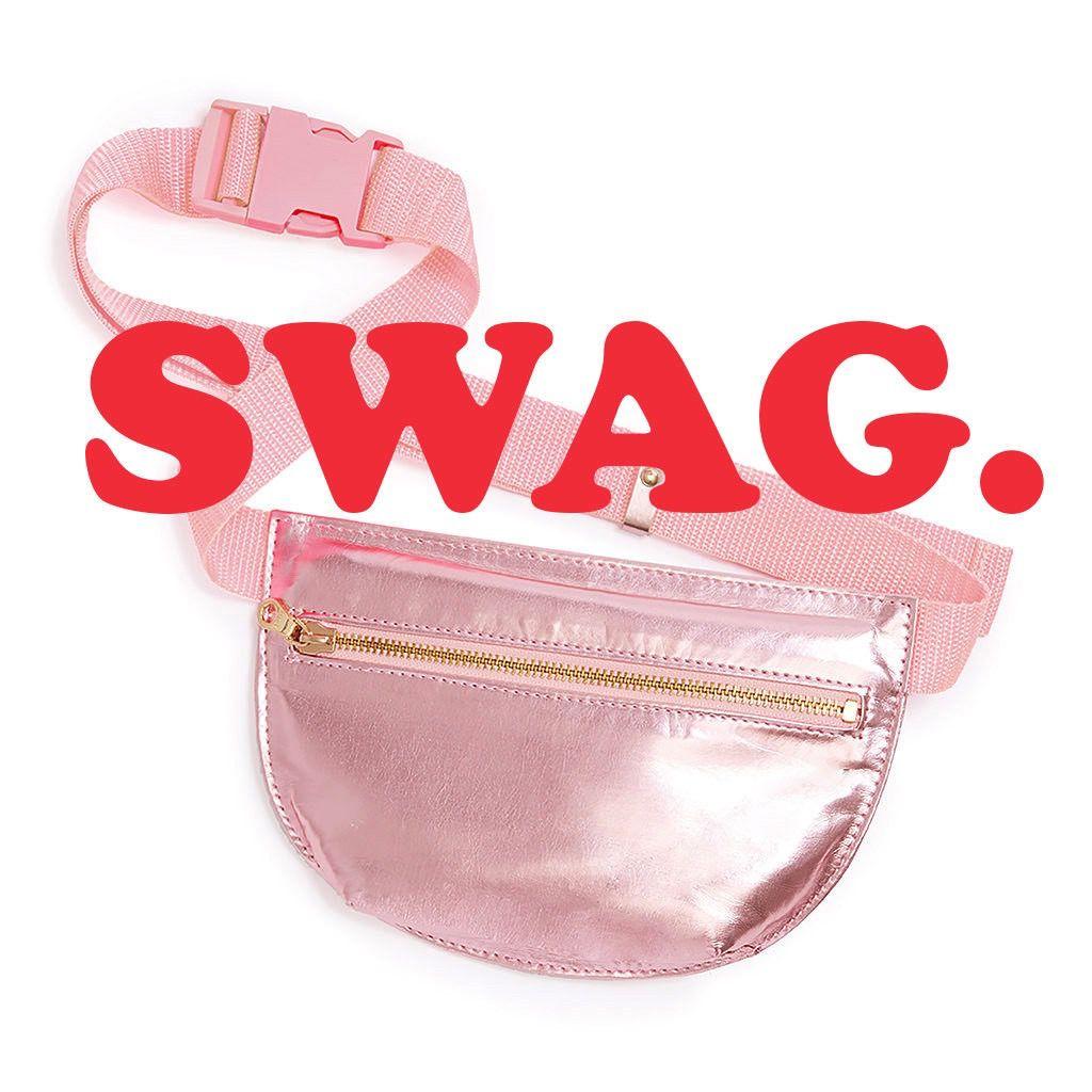 Pouch ban.do Swag Bag - Metallic Rose