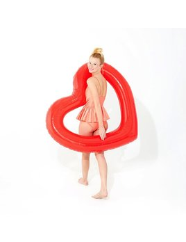 ban.do Beach, Please Jumbo Heart Innertube - Red