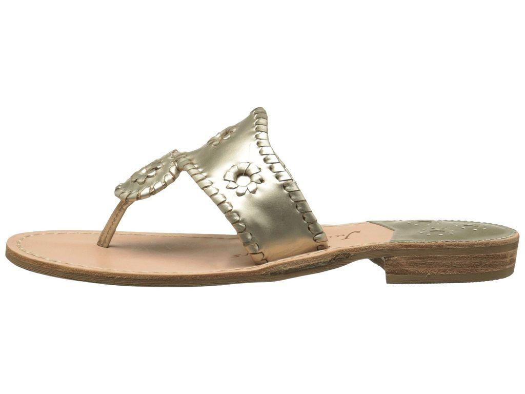 Jack Rogers Hamptons Sandal - Platinum