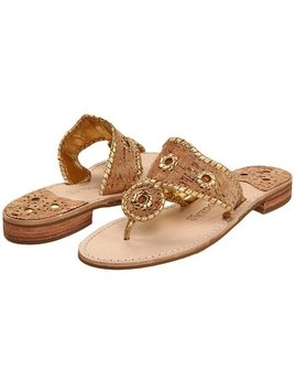 Jack Rogers Napa Valley Sandel - Natural Cork/Gold