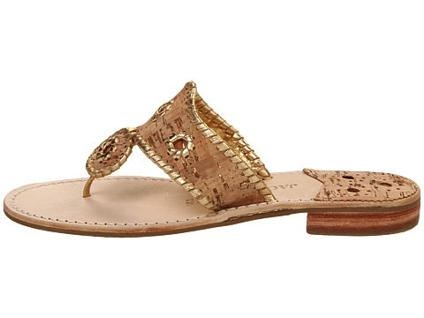 Jack Rogers Napa Valley Sandal - Natural Cork/Gold