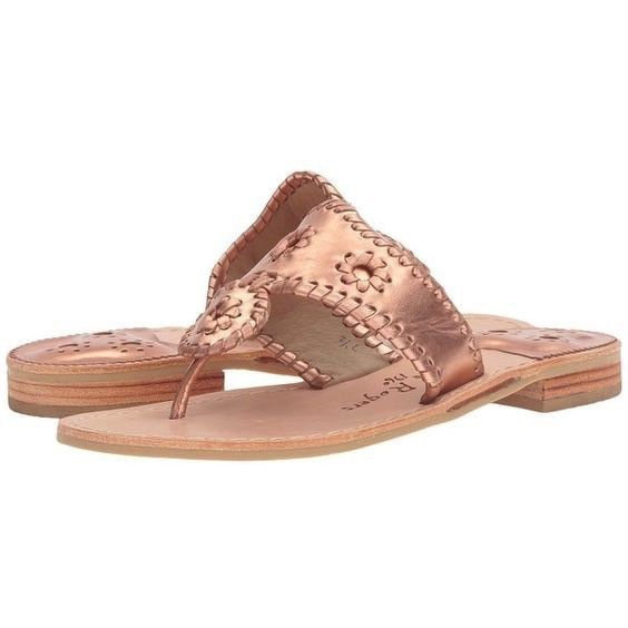 Jack Rogers West Hampton Sandal - Rose Gold