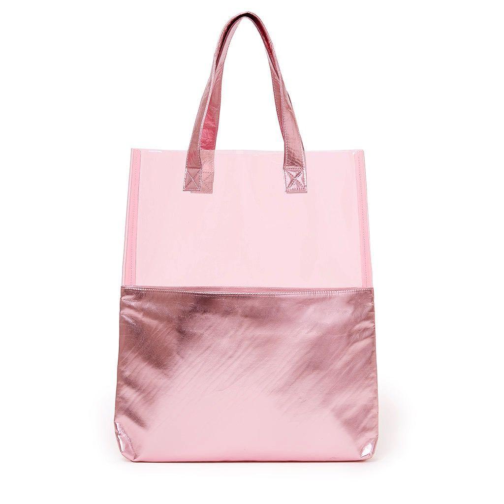 Tote Bag ban.do Peekaboo Tote Bag - Pink Shimmer