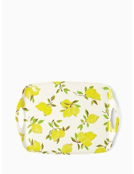 Tray Melamine Serving Tray with Lemons by Kate Spade