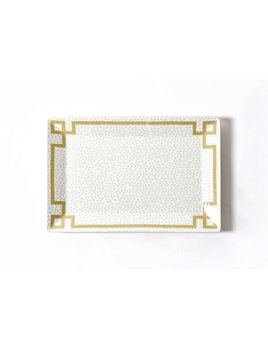 Platter Smoke Small Dot Rectangle Platter by Coton Colors