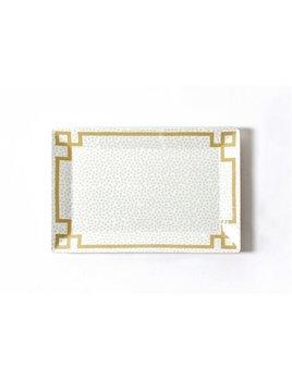 Platter Smoke Small Dot Rectangle Platter