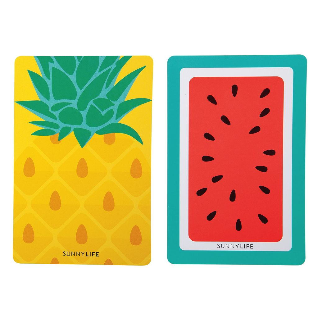 Cards Sunnylife Playing Cards - Pineapple and Watermelon