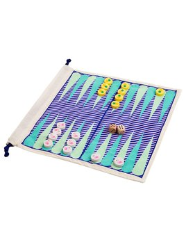 Sunnylife Travel Backgammon and Checkers