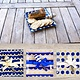 Tray Nautical Glass Tray with Spreader