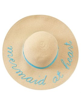 Hat Mermaid Message Sun Hats