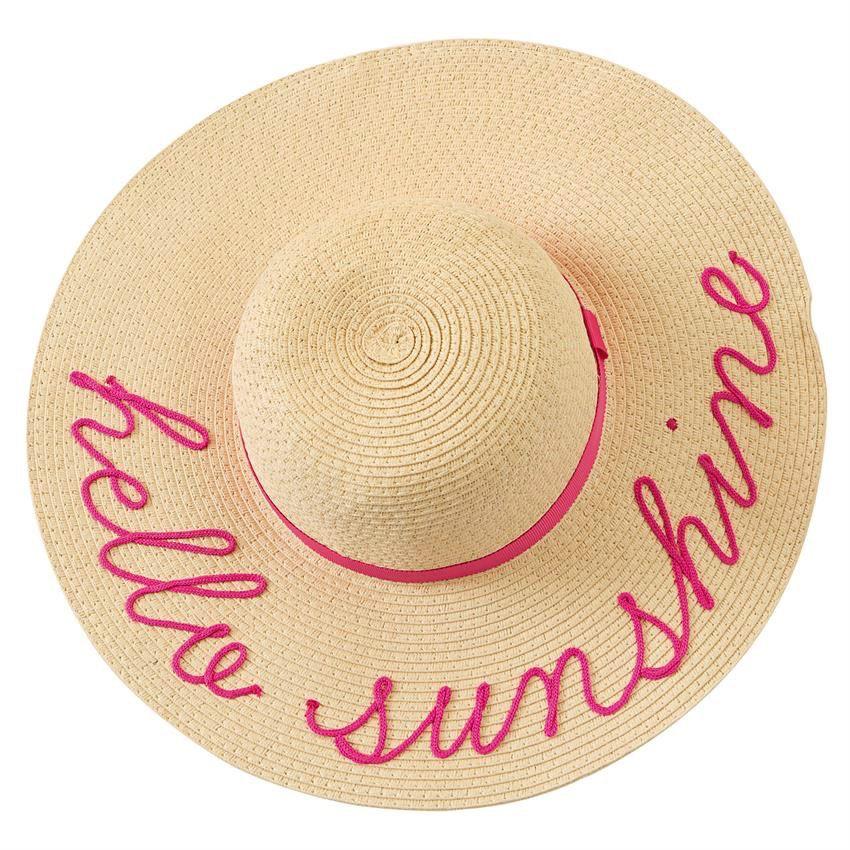 Hat Mermaid Message Sun Hats