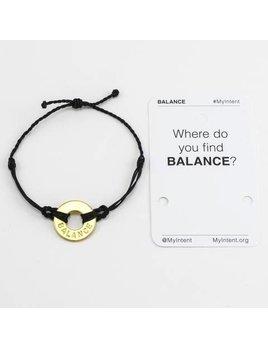 Bracelet Balance Gold/Black MyIntent Bracelet