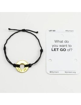 Bracelet Let Go Gold/Black MyIntent Bracelet