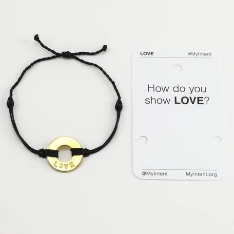 Bracelet Love Gold/Black MyIntent Bracelet